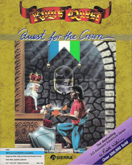 Carátula del juego King's Quest I Quest for the Crown (PC)
