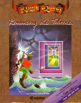Carátula del juego King's Quest II Romancing The Throne (PC)