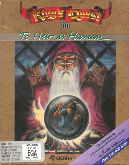 Carátula del juego King's Quest III - To Heir is Human (PC)