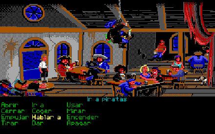 Pantallazo del juego online The Secret of Monkey Island (EGA) (PC)