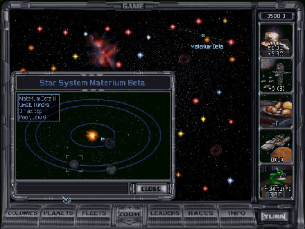 Pantallazo del juego online Master of Orion II Battle at Antares (PC)
