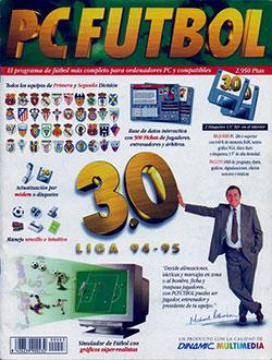Portada de la descarga de PC Futbol 3.0