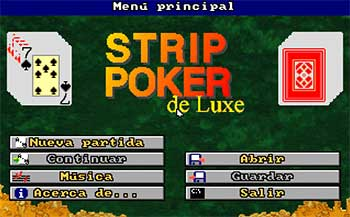 Portada de la descarga de Strip Poker De Luxe