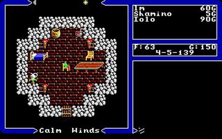 Pantallazo del juego online Ultima V - Warriors of Destiny (PC)