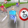 Juego online Wheelchair race