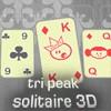 Juego online Tri Peak Solitaire 3D