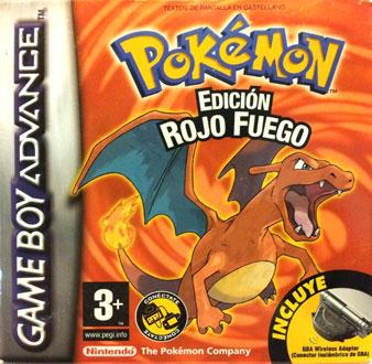 Carátula del juego Pokemon Rojo Fuego (GBA)