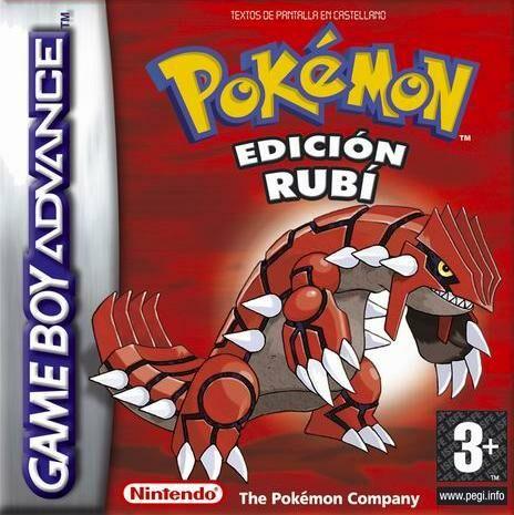 Carátula del juego Pokemon  edicion Rubi (GBA)