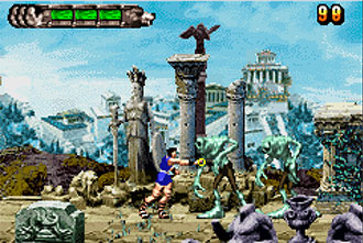 Pantallazo del juego online Altered Beast Guardian of the Realms (GBA)