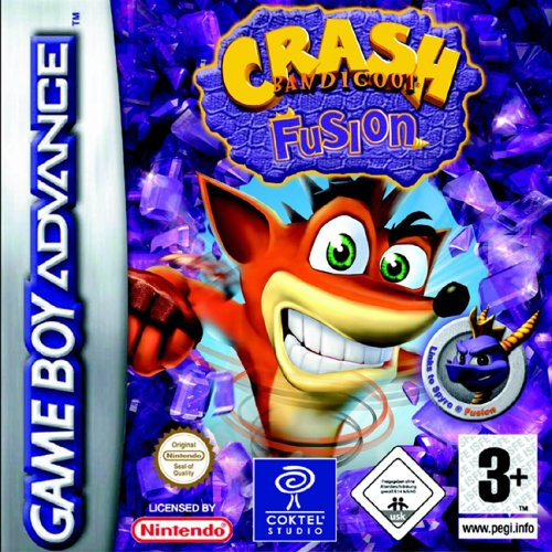 Portada de la descarga de Crash Bandicoot Fusion