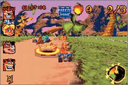 Pantallazo del juego online Crash Nitro Kart (GBA)