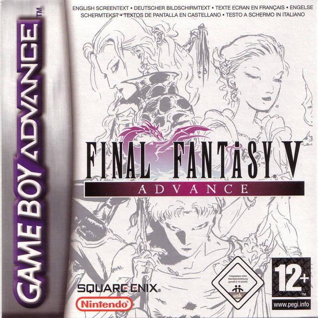 Portada de la descarga de Final Fantasy V Advance