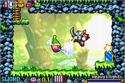 Pantallazo del juego online Kirby and the Amazing Mirror (GBA)