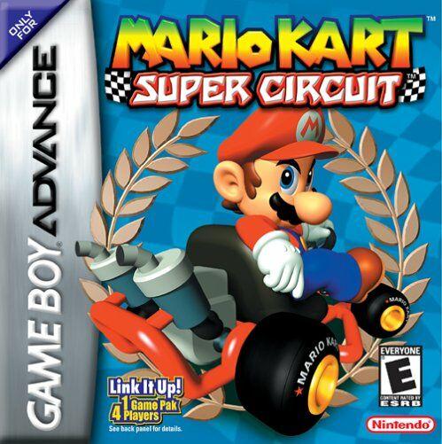 Carátula del juego Mario Kart Super Circuit (GBA)