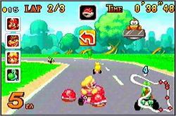 Pantallazo del juego online Mario Kart Super Circuit (GBA)