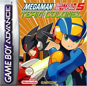 Portada de la descarga de Mega Man Battle Network 5: Team Colonel