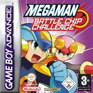 Portada de la descarga de Mega Man: Battle Chip Challenge