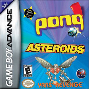 Juego online Pong & Asteroids & Yars' Revenge (GBA)