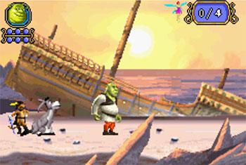 Pantallazo del juego online Shrek Tercero (GBA)