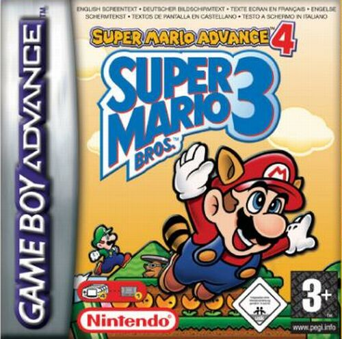 Carátula del juego Super Mario Advance 4 Super Mario Bros 3 (GBA)