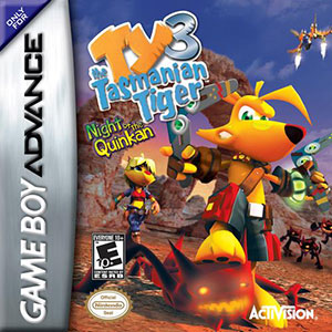 Juego online Ty the Tasmanian Tiger 3: Night of the Quinkan (GBA)