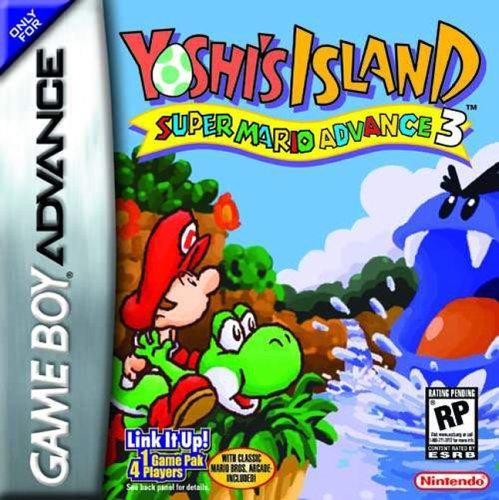 Carátula del juego Yoshi's Island Super Mario Advance 3 (GBA)