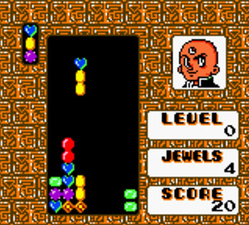 Pantallazo del juego online Columns - Tezuka Osamu Characters (GBC)