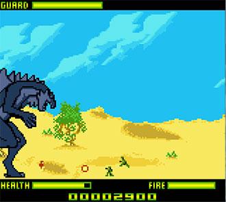 Pantallazo del juego online Godzilla The Series - Monster Wars (GBC)