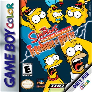 Juego online The Simpsons: Night of the Living Treehouse of Horror (GBC)