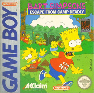 Portada de la descarga de Bart Simpson's Escape from Camp Deadly