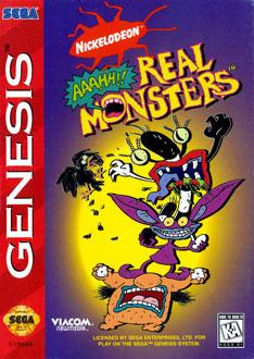 Carátula del juego AAAHH Real Monsters (Genesis)