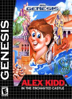 Portada de la descarga de Alex Kidd in the Enchanted Castle