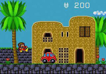 Pantallazo del juego online Alex Kidd in the Enchanted Castle (Genesis)