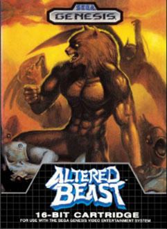 Carátula del juego Altered Beast (Genesis)