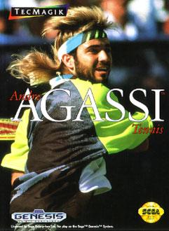 Carátula del juego Andre Agassi Tennis (Genesis)