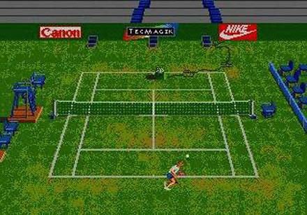 Pantallazo del juego online Andre Agassi Tennis (Genesis)