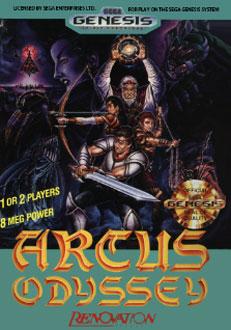Carátula del juego Arcus Odyssey (Genesis)