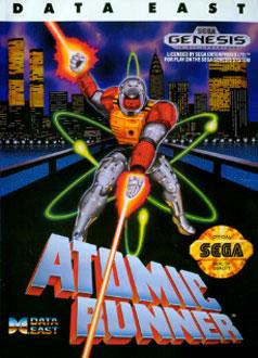 Carátula del juego Atomic Runner (Genesis)
