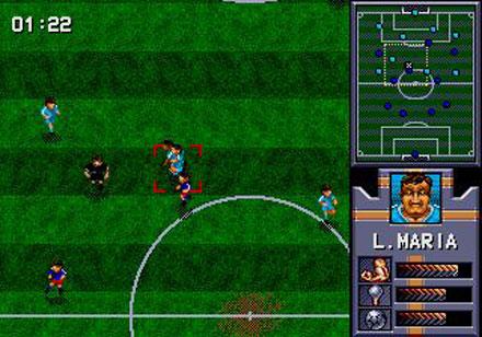 Pantallazo del juego online AWS Pro Moves Soccer (Genesis)