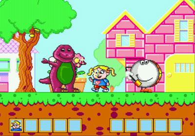 Pantallazo del juego online Barney's Hide & Seek Game (Genesis)