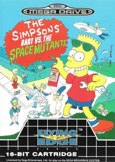 Portada de la descarga de The Simpsons: Bart vs the Space Mutants