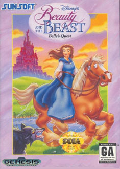 Carátula del juego Disney's Beauty and the Beast - Belle's Quest (Genesis)