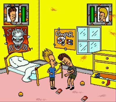 Pantallazo del juego online MTV's Beavis and Butt-head (Genesis)