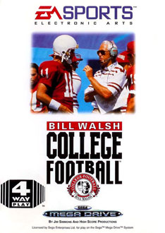 Carátula del juego Bill Walsh College Football (Genesis)