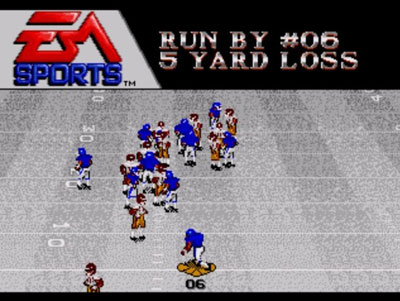 Pantallazo del juego online Bill Walsh College Football (Genesis)