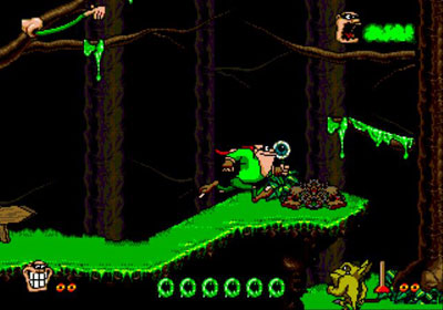 Pantallazo del juego online Boogerman - A Pick and Flick Adventure (Genesis)