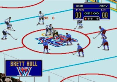 Pantallazo del juego online Brett Hull Hockey 95 (Genesis)