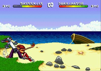 Pantallazo del juego online Brutal - Paws of Fury (Genesis)