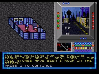 Pantallazo del juego online Buck Rogers - Countdown to Doomsday (Genesis)