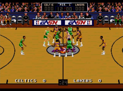 Pantallazo del juego online Bulls vs Lakers and the NBA Playoffs (Genesis)